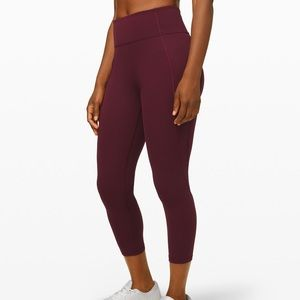 NWOT BURGANDY LULULEMON LEGGINGS